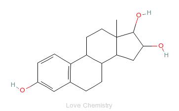CAS:50-27-1_雌三醇的分子结构