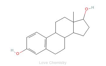 CAS:50-28-2_雌二醇的分子结构
