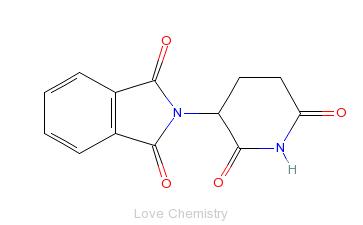 CAS:50-35-1_沙利度胺的分子结构