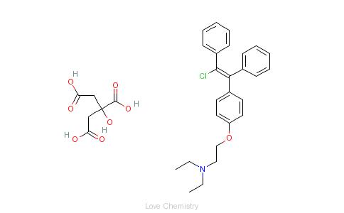 CAS:50-41-9_枸橼酸氯米芬的分子结构