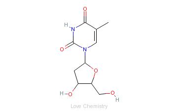 CAS:50-89-5_beta-胸苷的分子结构