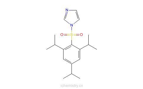 CAS:50257-40-4_1-(2,4,6-三异丙基苯基磺酰)咪唑的分子结构
