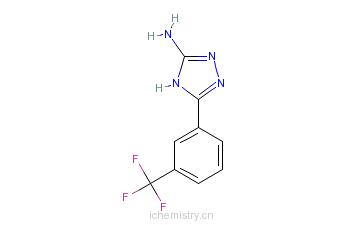 CAS:502686-01-3_5-(3-三氟甲基苯基)-4H-1,2,4-三唑-3-胺的分子结构