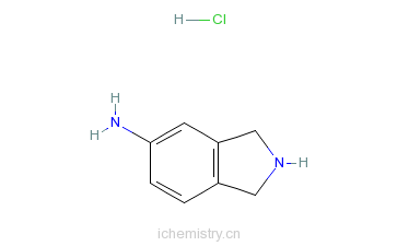 CAS:503614-81-1_5-氨基异吲哚林盐酸盐的分子结构