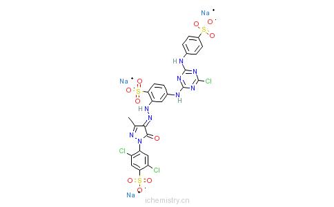 CAS:50662-99-2_活性嫩黄K-6G的分子结构