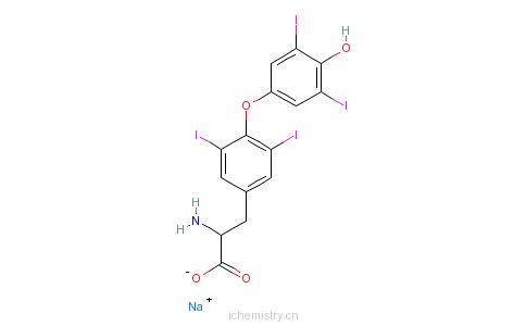 CAS:50809-32-0_甲状腺粉(猪)的分子结构