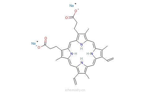 CAS:50865-01-5_原卟啉钠的分子结构