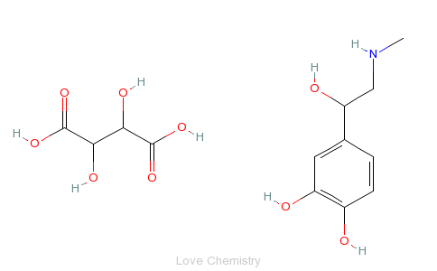 CAS:51-42-3_酒石酸肾上腺素的分子结构