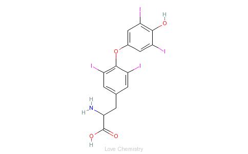CAS:51-49-0_D-甲状腺素的分子结构