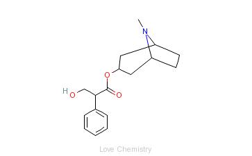 CAS:51-55-8_阿托品的分子结构
