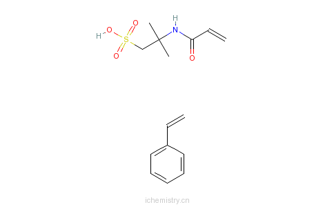 CAS:51121-85-8_2-甲基-2-[(1-氧代-2-丙烯基)氨基]-1-丙烷磺酸与乙烯基苯的聚合物的分子结构