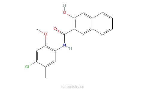 CAS:5165-81-1_N-(4-氯-2-甲氧基-5-甲基苯基)-3-羟基-2-萘甲酰胺的分子结构