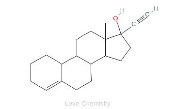 CAS:52-76-6_利奈孕醇的分子结构