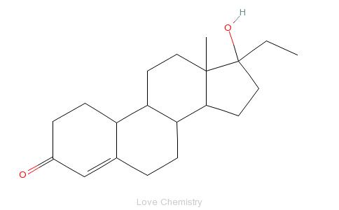 CAS:52-78-8_乙诺酮的分子结构