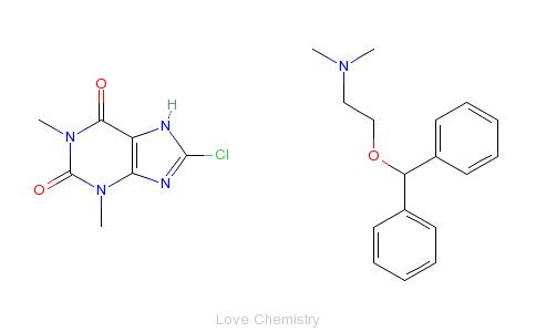 CAS:523-87-5_茶苯海明的分子结构