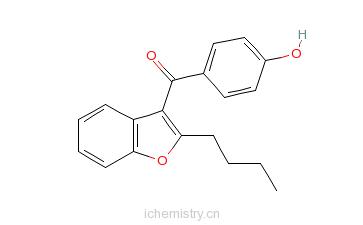 CAS:52490-15-0_2-丁基-3-(4-羟基苯甲酰基)苯并呋喃的分子结构
