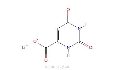 CAS:5266-20-6_乳清酸锂的分子结构