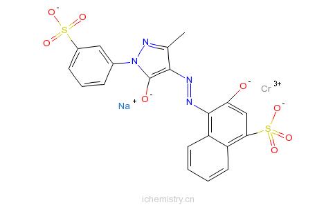 CAS:52677-44-8_[4-[[4,5-二氢-3-甲基-5-氧代-1-(3-磺基苯基)-1H-吡唑-4-基]偶氮]-3-羟基-1-萘磺酸根(4-)]铬酸钠酸性红186的分子结构
