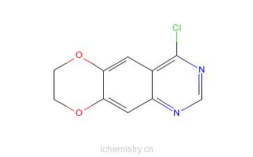 CAS:52791-05-6_4-氯-6,7-二亚甲基二羟喹唑啉的分子结构