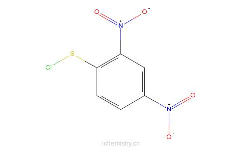 CAS:528-76-7_2,4一二硝基苯硫氯的分子结构