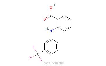 CAS:530-78-9_氟灭酸的分子结构