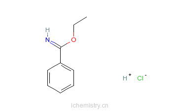 CAS:5333-86-8_苯甲亚胺酸乙酯盐酸盐的分子结构