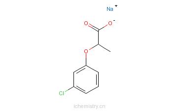 CAS:53404-22-1_2-(3-氯苯氧基)丙酸钠的分子结构