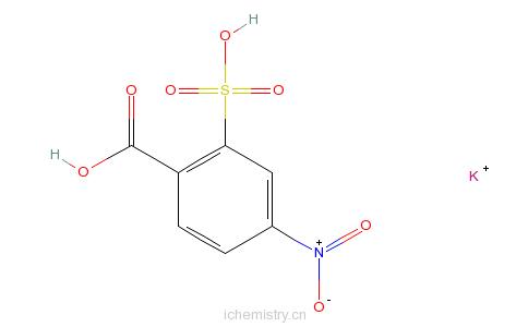 CAS:5344-48-9_2-羧基-5-硝基苯磺酸钾的分子结构