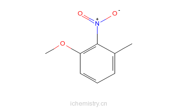 CAS:5345-42-6_3-甲基-2-硝基苯甲醚的分子结构