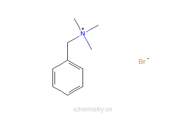 CAS:5350-41-4_苄基三甲基溴化铵的分子结构