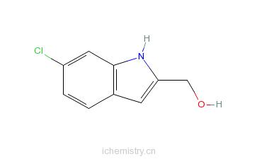 CAS:53590-58-2_2-羟甲基-6-氯吲哚的分子结构