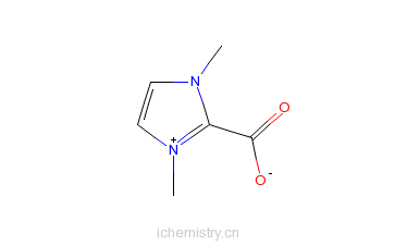 CAS:536755-29-0_1,3-二(甲基)咪唑-2-羧酸的分子结构