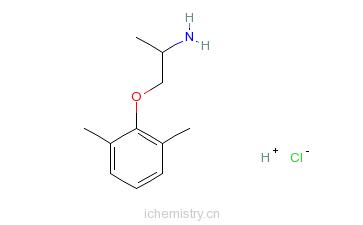 CAS:5370-01-4_盐酸美西律的分子结构