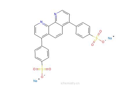 CAS:53744-42-6_4,4'-(1,10-菲咯啉-4,7-二基)二苯磺酸二钠的分子结构