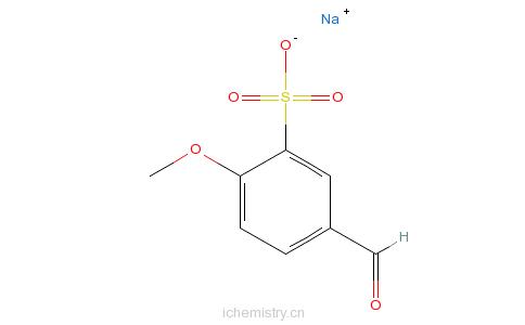 CAS:5393-59-9_4-甲氧基苯甲醛-3-磺酸钠的分子结构