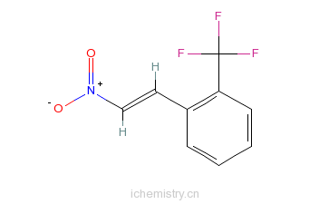 CAS:53960-62-6_1-(2-三氟甲基苯基)-2-硝基乙烯的分子结构