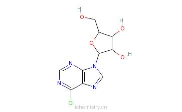 CAS:5399-87-1_6-氯嘌呤核苷的分子结构