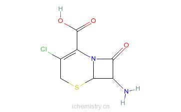 CAS:53994-69-7_7-氨基-3-氯-3-头孢环-4-羧酸的分子结构