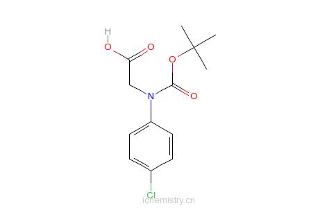 CAS:53994-85-7_N-Boc-(4'-氯苯基)甘氨酸的分子结构