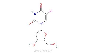 CAS:54-42-2_5-碘-2'-脱氧尿苷的分子结构