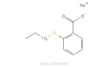 CAS:54-64-8_硫柳汞钠的分子结构