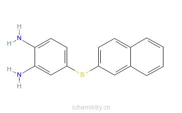 CAS:54092-93-2_4-(2'-萘硫基)-1,2-苯二胺的分子结构