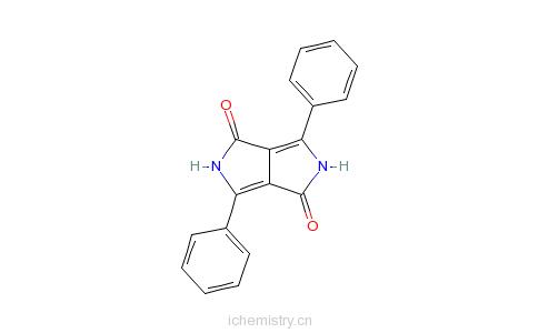 CAS:54660-00-3_2,5-二氢-3,6-二苯基吡咯并[3,4-C]吡咯-1,4-二酮的分子结构