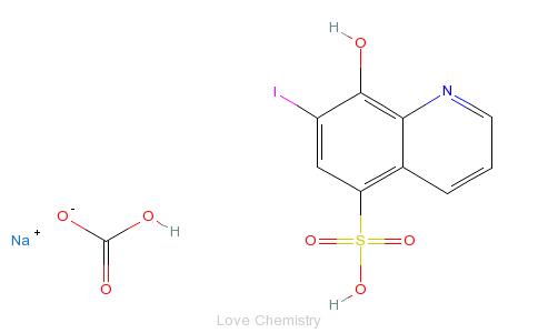 CAS:547-91-1_7-碘-8-羟基喹啉-5-磺酸的分子结构