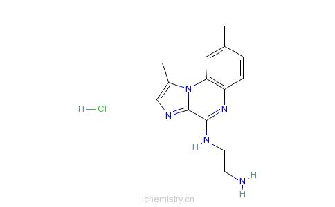 CAS:547757-23-3_N-(1,8-二甲基咪唑并[1,2-A]喹喔啉-4-基)-1,2-乙二胺盐酸盐的分子结构