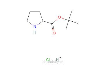 CAS:5497-76-7_L-脯氨酸叔丁酯盐酸盐的分子结构
