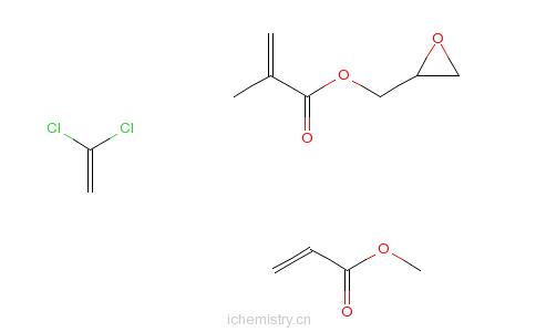 CAS:54975-10-9_2-甲基丙烯酸环氧乙烷甲酯与1,1-二氯乙烯和2-丙烯酸甲酯的聚合物的分子结构