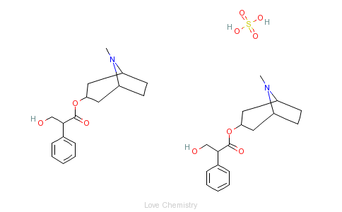 CAS:55-48-1_硫酸阿托品的分子结构