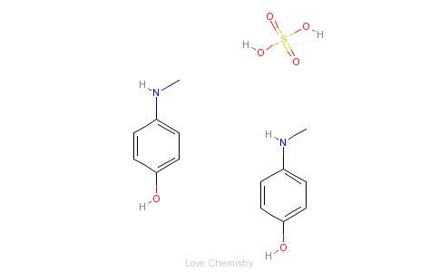 CAS:55-55-0_4-甲氨基苯酚硫酸盐的分子结构