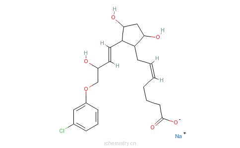 CAS:55028-72-3_氯前列烯醇钠的分子结构